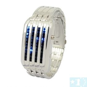 Nouveau mode 44 LED Digital Lady & Man binaire montre-bracelet