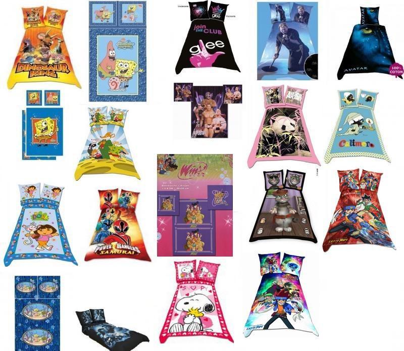 linge de lit enfant tintin Lot de 30 Parure de lit   housse de couette licences assortie  linge de lit enfant tintin