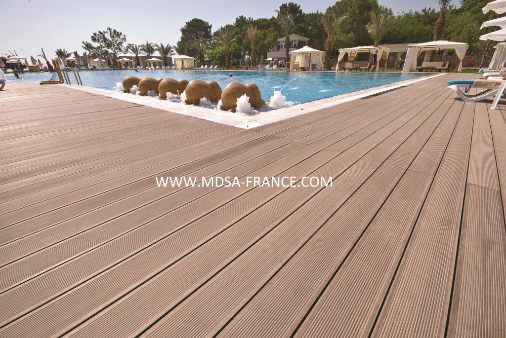 Lame de terrasse en bois composite destockage grossiste - Terrasse composite prix usine ...