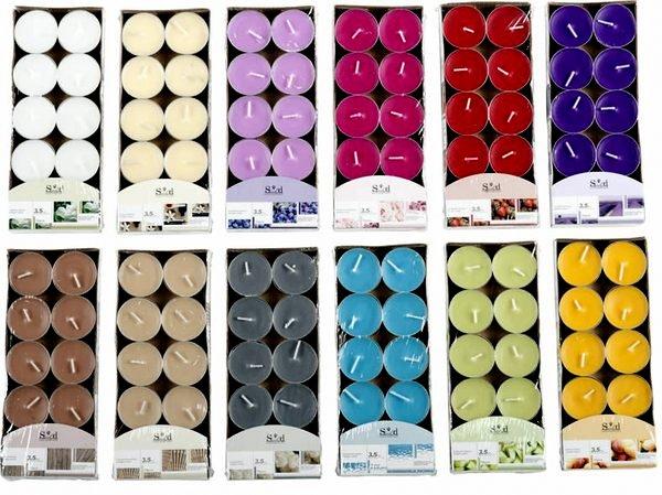 lot de 10 x bougie chauffe plat parfum e coloris. Black Bedroom Furniture Sets. Home Design Ideas