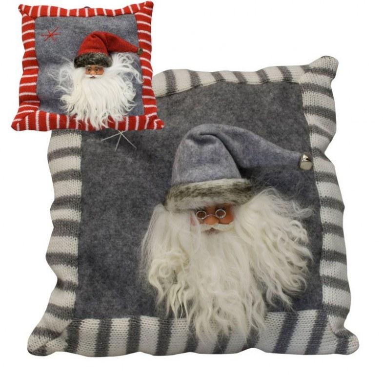 coussin p re no l feutrine 30cm gris ou rouge destockage grossiste. Black Bedroom Furniture Sets. Home Design Ideas