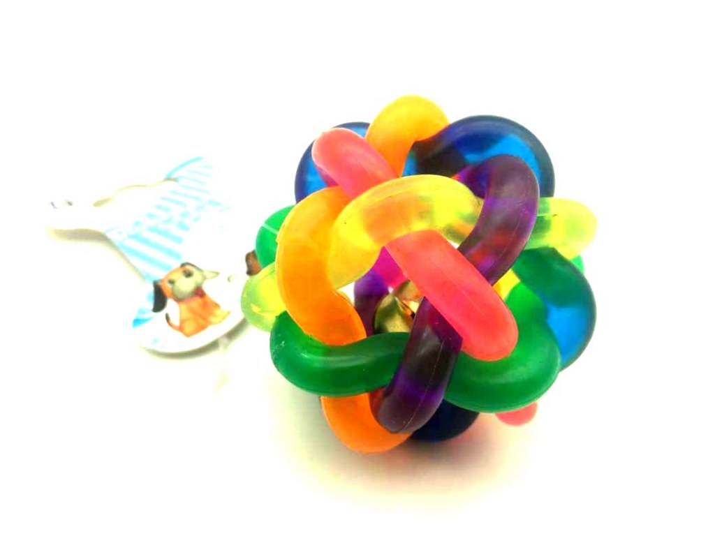 Jouet Pour Chien Balle Avec Clochette ø 65cm Multicolore à