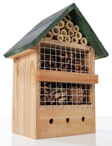 Natura h tel pour insectes bois 26cm destockage grossiste for Hotel a insecte acheter