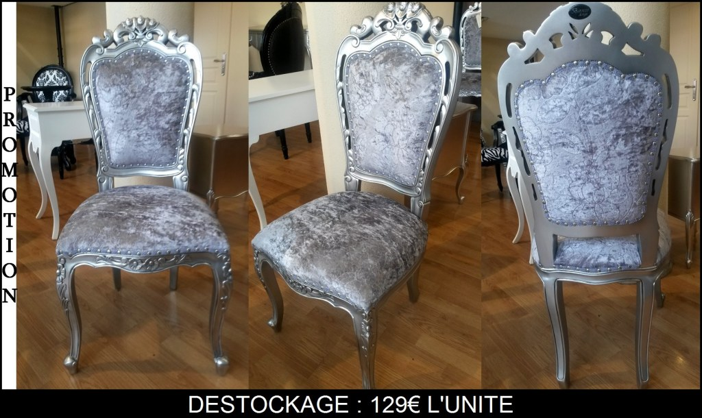 lot de 50 chaises style baroque destockage grossiste. Black Bedroom Furniture Sets. Home Design Ideas