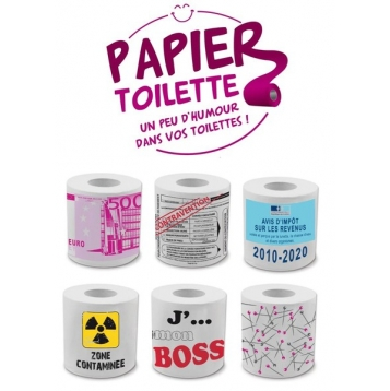 papier toilette humour pack de 6 destockage grossiste. Black Bedroom Furniture Sets. Home Design Ideas