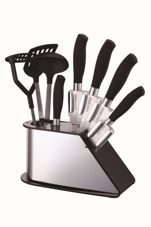 Peterhof ph 22382 9 pi ces ensemble de couteaux avec for Support couteaux cuisine