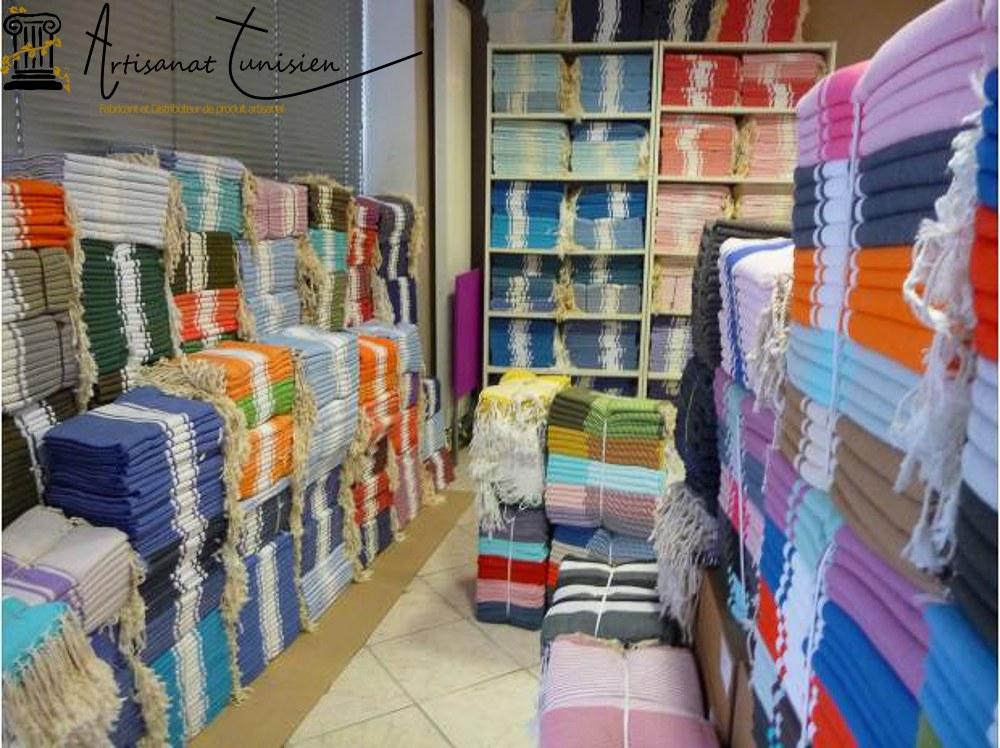 Fabricant et grossiste de serviette de plage Fouta 100% coton Destockage