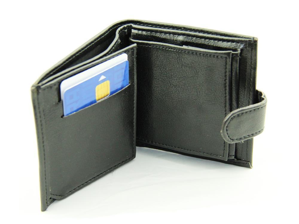 Porte monnaie porte cartes porte billets noir pour homme for Porte carte homme