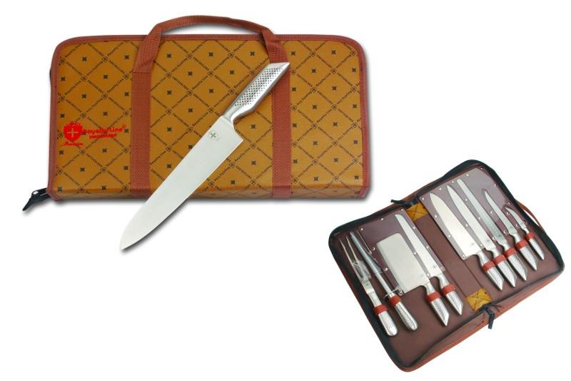 set couteaux 9 pcs inox avec sacoche de transport royaltyline swiss. Black Bedroom Furniture Sets. Home Design Ideas