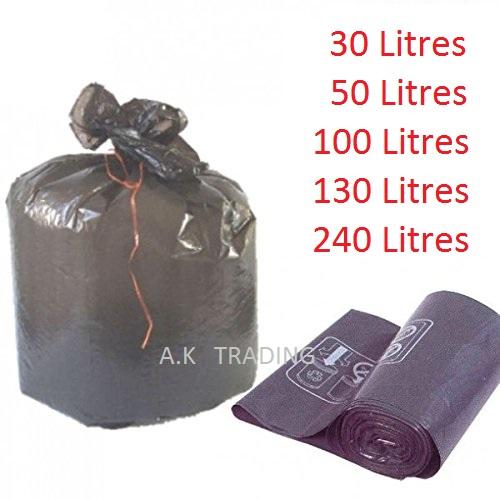 sac poubelle 30 litres noirs liens classiques rouleau de 35 sacs. Black Bedroom Furniture Sets. Home Design Ideas