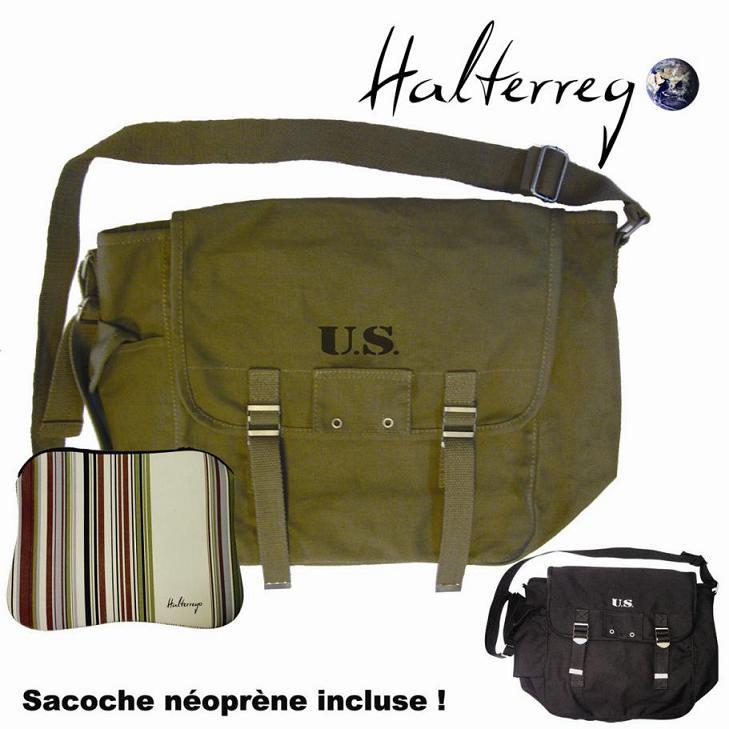 Halterrego sac u s avec housse n opr ne pour notebook 7 for Housse neoprene