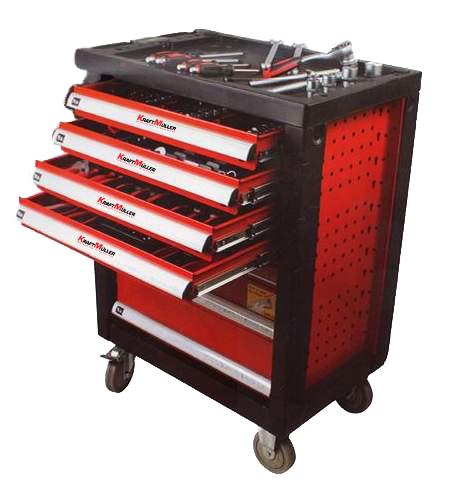 servante d 39 atelier servante outils 245 pcs 6 tiroirs kraft. Black Bedroom Furniture Sets. Home Design Ideas