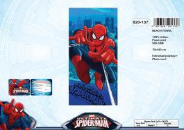 Serviette de plage ou drap de bain Spiderman- 820-137