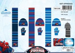 Set 3 pièces Spider-man BONNET + GANTS + ECHARPE Spider-man