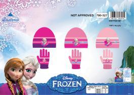 Set 2 pièces Frozen Disney bonnet et gants La reine des neiges - 780-327