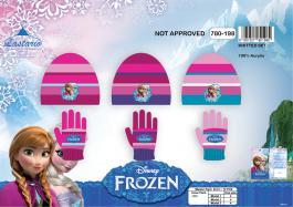 Set 2 pièces Frozen Disney bonnet et gants La reine des neiges