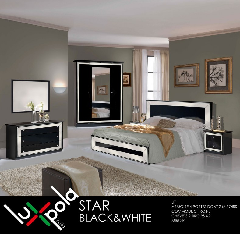 Chambre a coucher complete star destockage grossiste for Destockage chambre a coucher