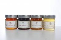 Miel d'acacia, coriandre, toutes fleurs, miellat