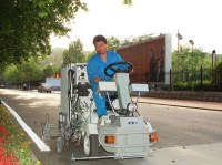 Petite Machine airless de conduite de marquage au sol à solvant froid