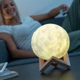 SHOP-STORY - LED MOON LAMP : Lampe lune LED à contrôle tactile