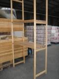 Grand lot de racks de stockage en bois
