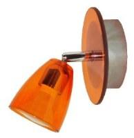 Spot Patère Verre Orange + métal 50W GU10 KOBIA