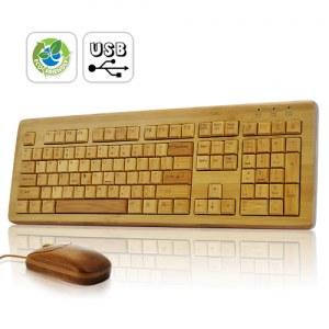 Souris et clavier 100 % Bambou