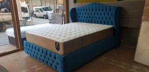 2 personnes 160x200 lit coffre complet avec matelas- lit tete