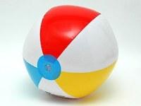 Balle gonflable PVC multicolore Ø 40cm à partir de 0€99 HT