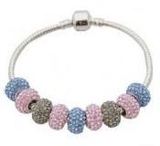 Grossiste, fournisseur et fabricant CB43/bracelet feminin, plaque argent et crystaux