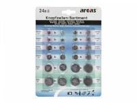 Pack de 24 piles bouton Arcas AG1 till CR2032