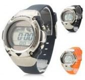 Des hommes et des femmes montre-bracelet en silicone numérique automatique