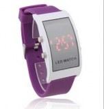Mous en silicone bracelet montres bracelet rouge conduit