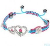 Grossiste, fournisseur et fabricant CB39/bracelet avec petit coeur en crystaux et macrame