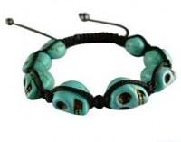 Grossiste, fournisseur et fabricant CB14/bracelet tendance avec tete de mort en resine...