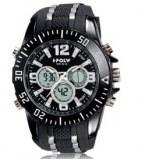 Grossiste montre chrono avec bracelet en silicone noir. etanche jusqu'a 30 metres (prix d'usine)
