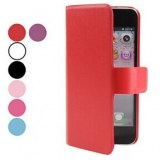 Housse en cuir PU avec fente pour carte pour l'iPhone 5
