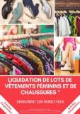 Liquidation de lot de vêtements féminins et de chaussures