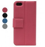 Diamant grains Case en cuir PU pour iPhone 5