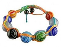 Grossiste, fournisseur et fabricant CB8/bracelet fantaisie en verrre et multicolore