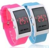 Grossiste,fournisseur chinois: mous en silicone bracelet montres bracelet rouge conduit