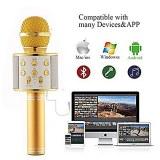 UNIVERSAL Microphone Sans Fil Bluetooth USB Bluetooth Haut-Parleur Disque Musique Micro...