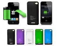 Grossiste coque rigide avec batterie intégrée iphone 4/4s et 5/5s ( 4 couleurs )