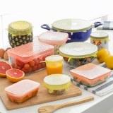 SHOP-STORY - LIDYC : Jeu de 10 Couvercles de Cuisine Réutilisables et Réglables - 6 Ron...