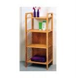 Etagère 4 plateaux - bambou - meuble de rangement