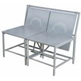 Banc convertible - gris - meuble de jardin