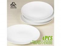Assiette plate porcelaine 27 cm Casual Home