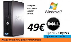 Ordinateur complet dell optiplex 330/775
