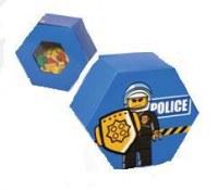 Baril de Rangement Lego Hexagonal Bleu