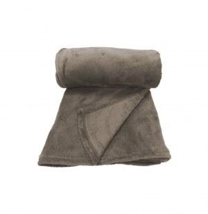 Plaid polaire moelleux - bronze - 125 x 150 cm